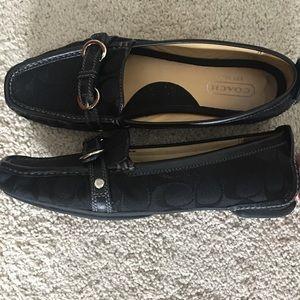 COACH Monogram Loafers (Black)